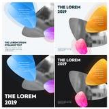 Diseño abstracto de elementos coloridos del vector para el fondo moderno con las líneas suaves para la impresión de marcado en ca libre illustration