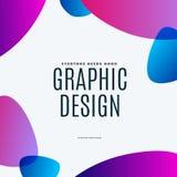 Diseño abstracto de elementos coloridos del vector para el fondo moderno con las líneas suaves para la impresión de marcado en ca stock de ilustración
