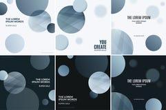 Diseño abstracto de elementos coloridos del vector para el fondo negro moderno con los puntos suaves de las rondas libre illustration