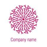 Diseño abstracto de la insignia Logotipo redondo Imagenes de archivo
