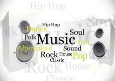 Diseño abstracto de la música libre illustration