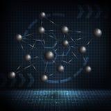 Diseño abstracto de la molécula Estructura del átomo Fotografía de archivo libre de regalías