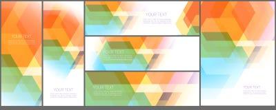 Diseño abstracto de la plantilla Fotografía de archivo