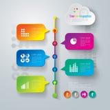 Diseño abstracto de la plantilla del infographics. Foto de archivo