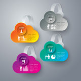 Diseño abstracto de la plantilla del infographics. stock de ilustración