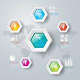 Diseño abstracto de la plantilla del infographics. Imagen de archivo libre de regalías