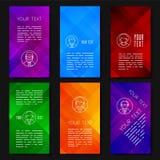 Diseño abstracto de la plantilla del vector con los fondos geométricos coloridos Imagenes de archivo
