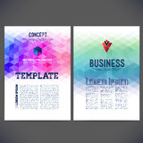 Diseño abstracto de la plantilla del vector, folleto, sitios web, página Imagenes de archivo