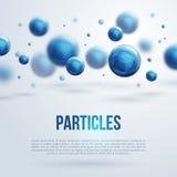 Diseño abstracto de las moléculas Fotos de archivo libres de regalías