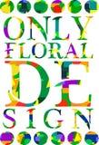 Diseño abstracto de los colores de la tipografía Foto de archivo