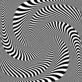 Diseño abstracto del arte de Op Ilusión del movimiento del torbellino stock de ilustración