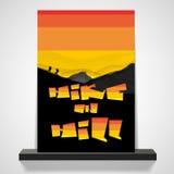 Diseño abstracto del aviador o de la cubierta de la pintada Fotografía de archivo libre de regalías
