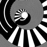Diseño abstracto del círculo de la rotación Líneas textura Fotos de archivo