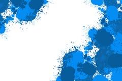 Diseño abstracto del color de la salpicadura en blanco imagen de archivo libre de regalías