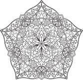 Diseño abstracto del cordón del negro del vector en la mono línea estilo - five-fing Fotos de archivo