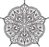 Diseño abstracto del cordón del negro del vector en la mono línea estilo - five-fing Fotos de archivo libres de regalías
