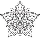 Diseño abstracto del cordón del negro del vector en la mono línea estilo - five-fing Imagen de archivo libre de regalías
