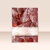 diseño abstracto del flayer Fotografía de archivo