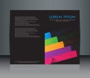 Diseño abstracto del folleto. Fotografía de archivo