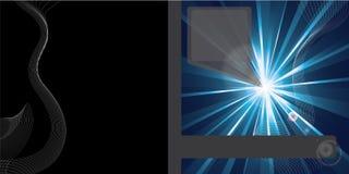 Diseño abstracto del folleto del vector Imagen de archivo libre de regalías