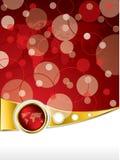 Diseño abstracto del folleto en rojo Imágenes de archivo libres de regalías