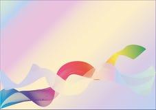 Diseño abstracto del fondo con dos cuerdas del arco iris Fotografía de archivo