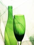 Diseño abstracto del fondo de la cristalería del vino Fotografía de archivo libre de regalías