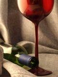 Diseño abstracto del fondo de la cristalería del vino Foto de archivo libre de regalías