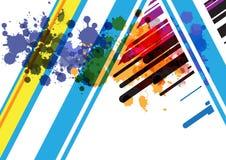 Diseño abstracto del fondo de la raya Foto de archivo