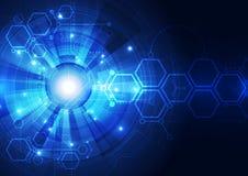 Diseño abstracto del fondo de la tecnología digital del vector