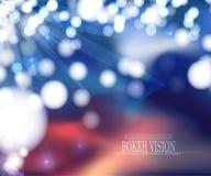 Diseño abstracto del fondo de la visión del bokeh del vector Imagenes de archivo
