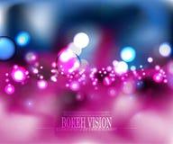 Diseño abstracto del fondo del rosa de la visión del bokeh del vector Foto de archivo libre de regalías