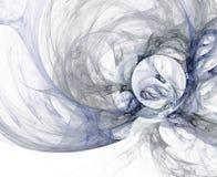 Diseño abstracto del fractal Anillos en el fondo blanco Foto de archivo libre de regalías