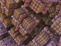 Diseño abstracto del fractal de las cajas rosadas del caramelo Foto de archivo