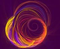 Diseño abstracto del fractal Fondo ondulado futurista abstracto Fotografía de archivo