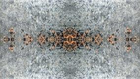 Diseño abstracto del gris y del grunge rayado anaranjado libre illustration
