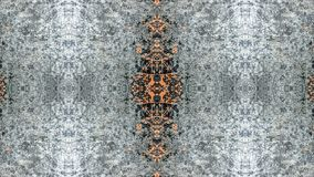 Diseño abstracto del gris y del grunge rayado anaranjado stock de ilustración