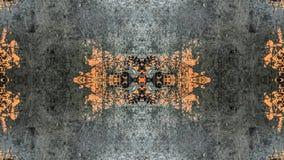 Diseño abstracto del gris y del grunge rayado anaranjado ilustración del vector