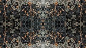 Diseño abstracto del grunge rayado negro y anaranjado stock de ilustración