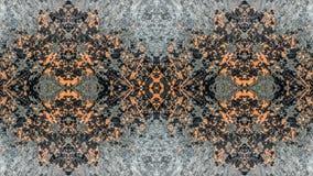 Diseño abstracto del grunge rayado negro y anaranjado ilustración del vector