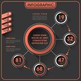 Diseño abstracto del infographics Imagen de archivo libre de regalías