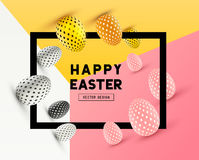 Diseño abstracto del marco de Pascua Fotos de archivo libres de regalías