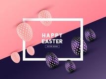 Diseño abstracto del marco de Pascua Fotografía de archivo