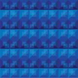 Diseño abstracto del modelo del azul real del fondo Imagenes de archivo