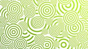 Diseño abstracto del movimiento de los círculos retros verdes claros ilustración del vector