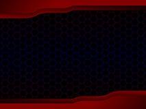 Diseño abstracto del negro del panal con el marco rojo, concepto Backgrou Foto de archivo