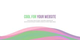 Diseño abstracto del sitio web del jefe del fondo ilustración del vector