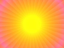 Diseño abstracto del sol Stock de ilustración