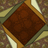 Diseño abstracto del vector 3D Imagen de archivo libre de regalías