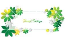 Diseño abstracto del vector de las hojas coloridas Imagenes de archivo